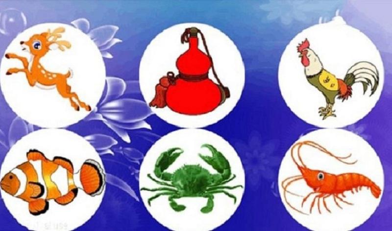 Bốn linh vật chính của trò chơi này là Bầu – Cua – Tôm - Cá