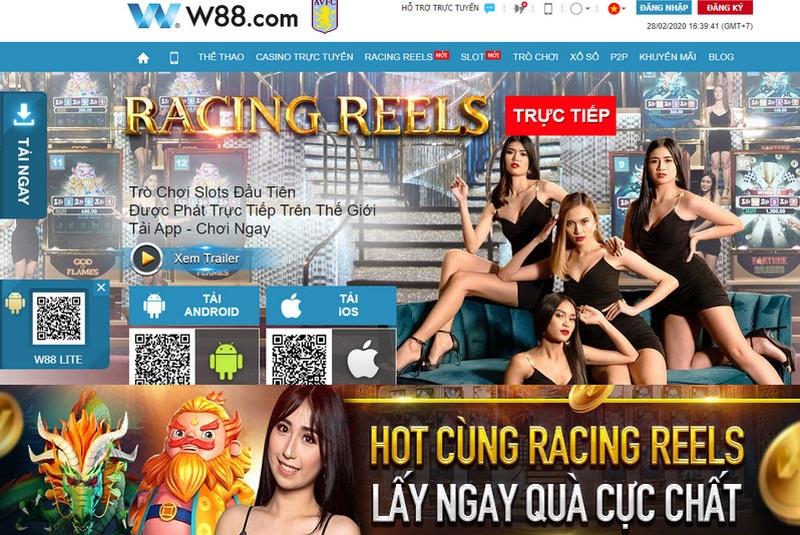 Nhiều ưu đãi nóng bỏng tay với Racing Reels W88