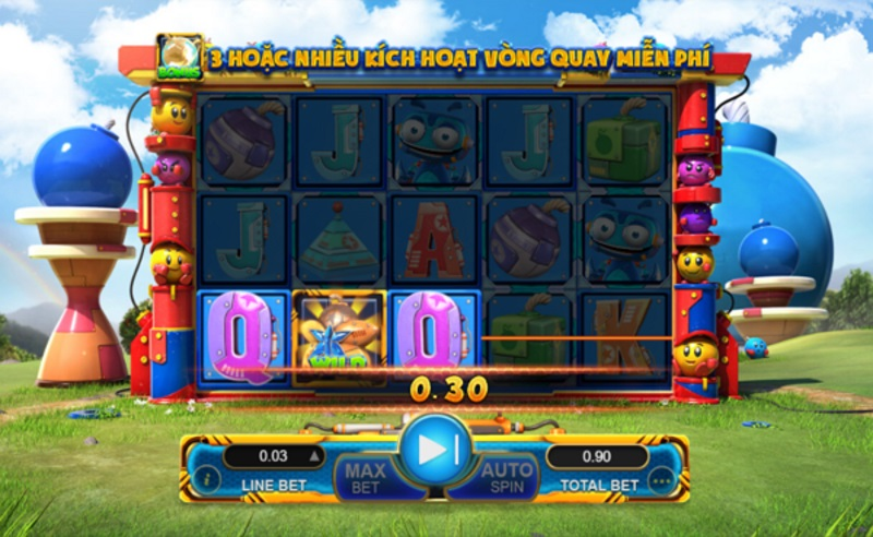Slot Lucky Bomber thuộc về hệ thống game w88 của GamePlay Interactive