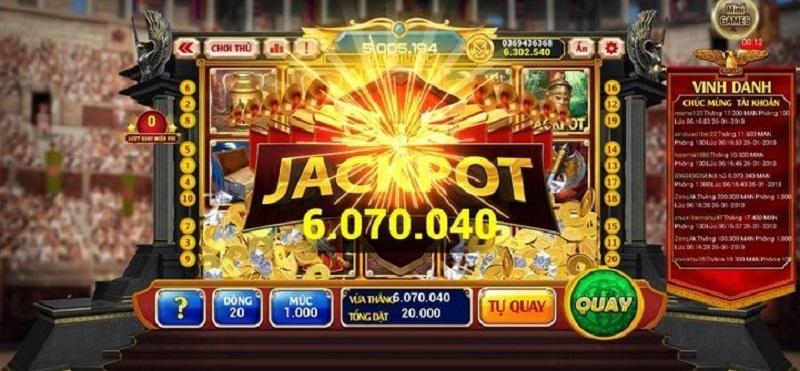 Tham gia slot game và trúng Jackpot