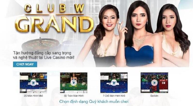 Sản phẩm Casino Online W88 đa dạng