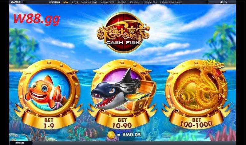 Kinh nghiệm chơi Cash Fish tại W88 dễ thắng