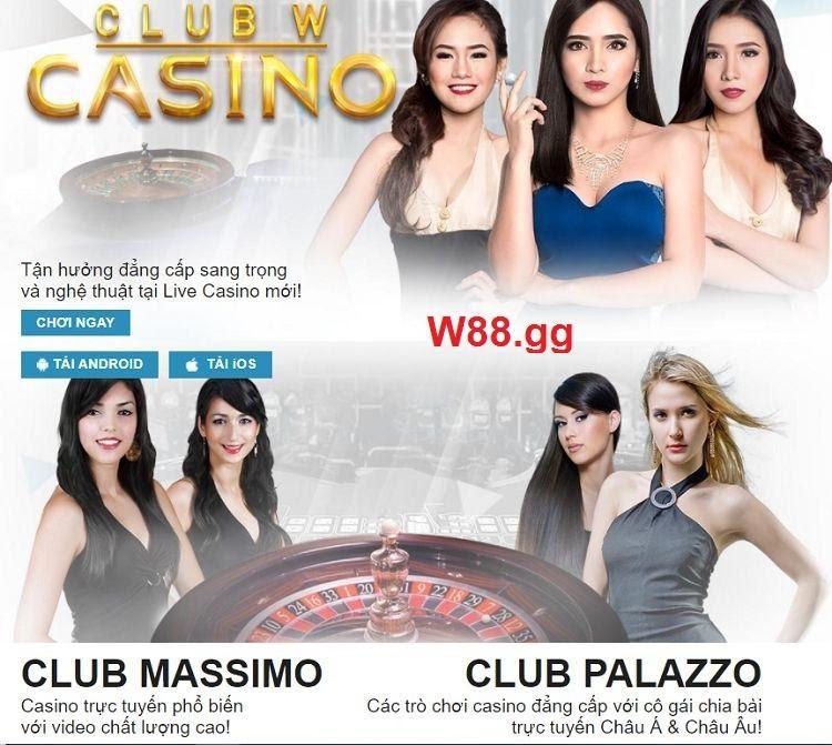 Club Palazzo W88 với giao diện thân thiện