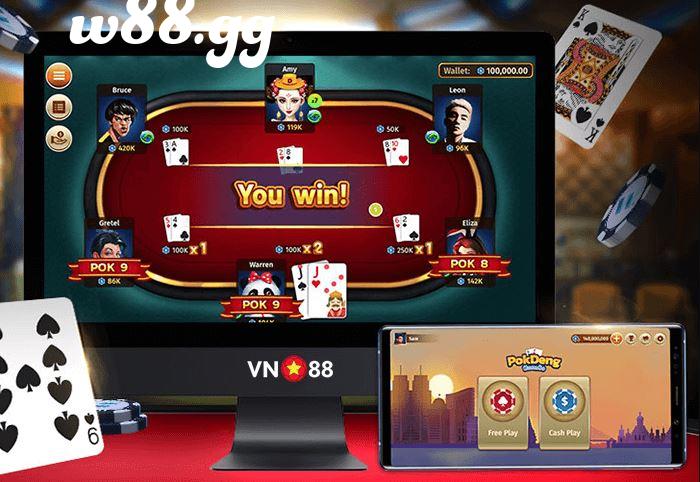 Pok Deng có thể chơi trực tuyến tại W88