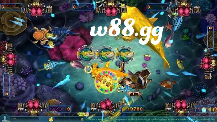 Câu cá online tại w88 là trò chơi có giao diện đẹp